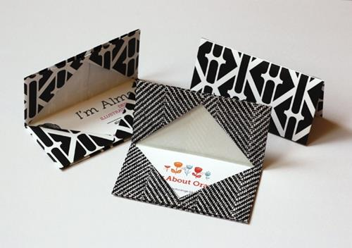 howaboutorange origami business card holder