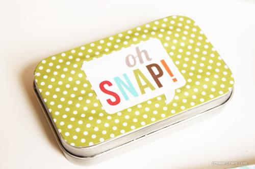 mod podge tin business card holder