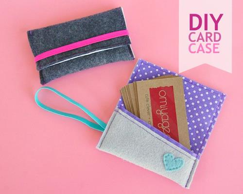 ohmyhandmade diy business card holder