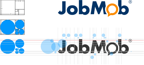 The JobMob logo and the Golden Section