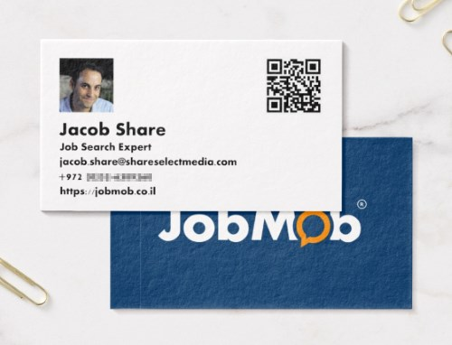 jobmob business card from zazzle