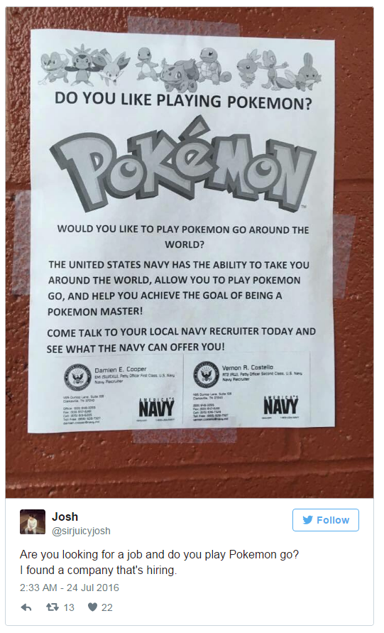 pokemon go jobs tweet 5