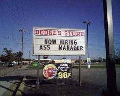 ass manager funny job ads