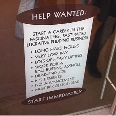 dead end job funny job ads