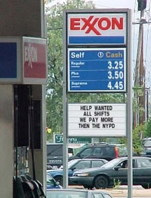 exxon funny job ads