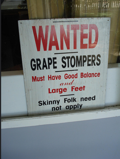 grape stompers funny job ads