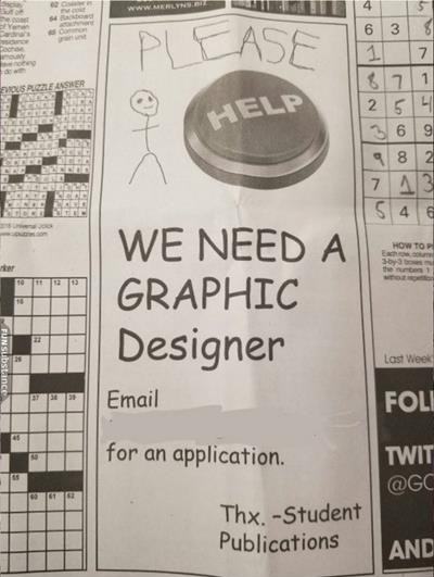 graphic designer funny job ads