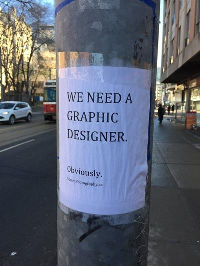 graphic designer obviously funny job ads
