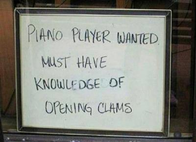 piano player funny job ads