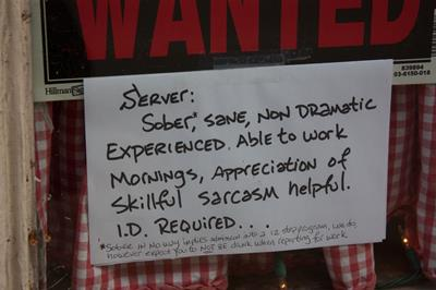 server funny job ads