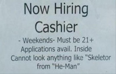 skeletor funny job ads
