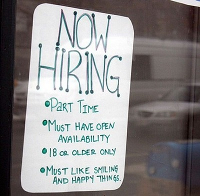 smiling funny job ads