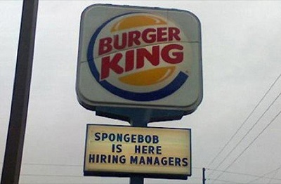 spongebob funny job ads