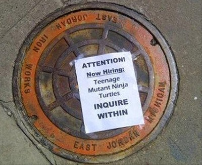 teenage mutant ninja turtle funny job ads