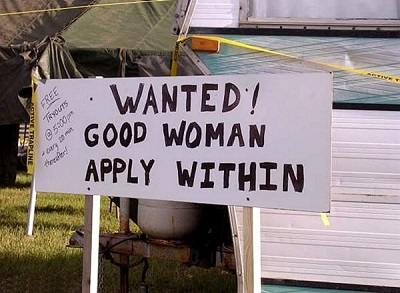 wanted good woman funny job ads