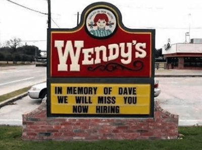 wendys funny job ads