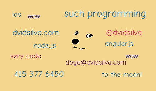 programming business card