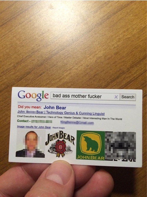 technology genius business card