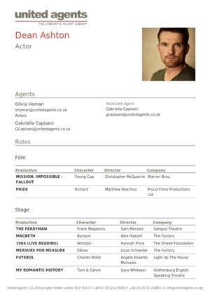 dean ashton acting resume