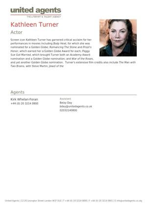 kathleen turner acting resume