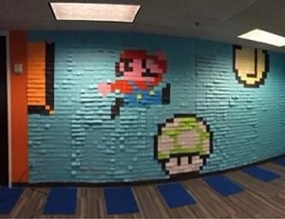 sticky note super mario