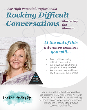 love your working life - rocking difficult conversations
