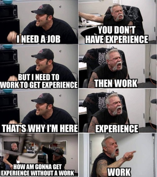 experience overqualified meme