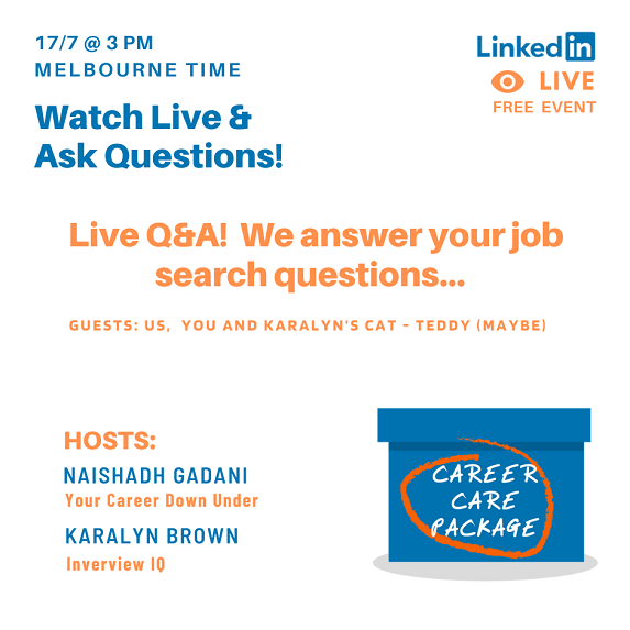 Career Care Package Get Your Job Search Questions Answered on LinkedIn Live