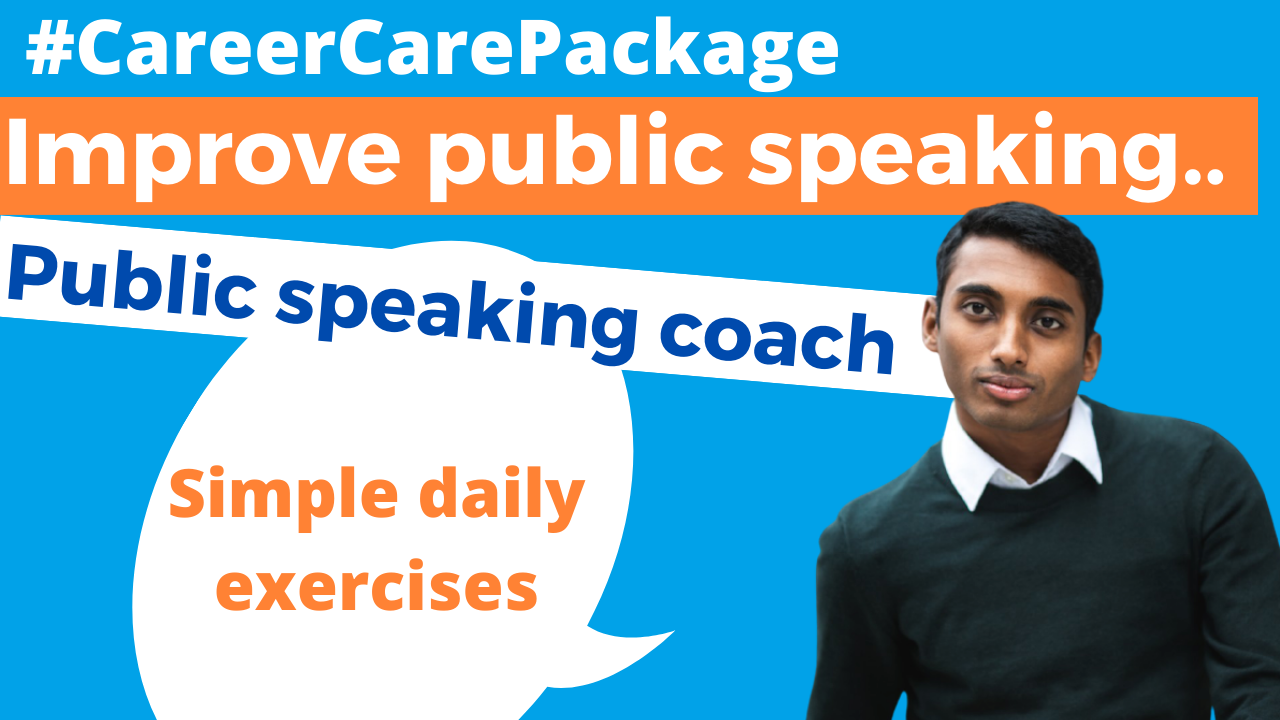 Career Care Package #161 When Brenden says that with just 3 daily exercises you can get better at public speaking, we knew we should talk.