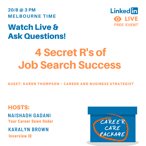 Career Care Package #110 The 4 R's of job search success