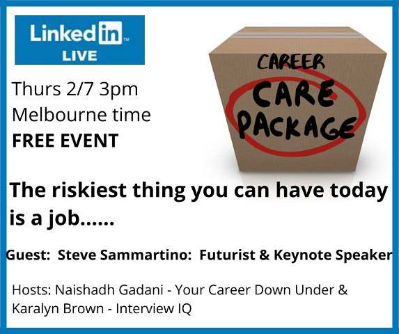 Career Care Package - the riskiest thing you can have today is a job