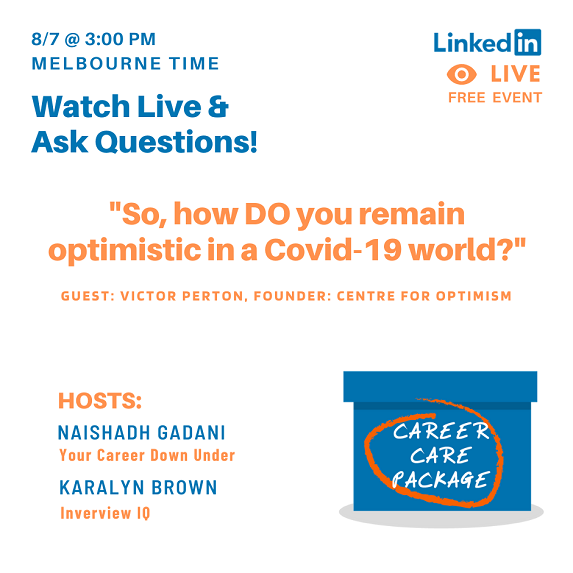 Career Care Package - How do you remain optimistic in a Covid-19 world