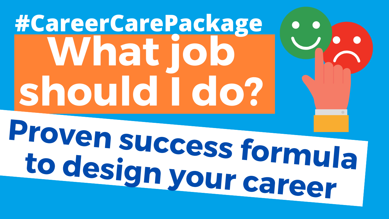 Career Care Package # 127 Sick of wondering what career path is right for you? [Lean in for life design principles]