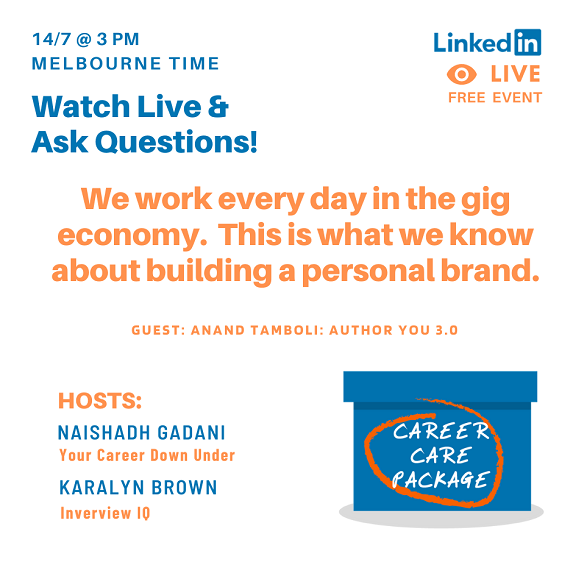 Career Care Package - We work every day in the gig economy. This is what we know about building a powerful brand.