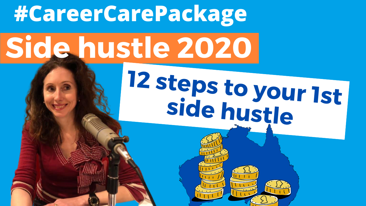 Career Care Package #142 Psst wanna [side] hustle but don't know where to start? Here's your simple 12 step break free plan