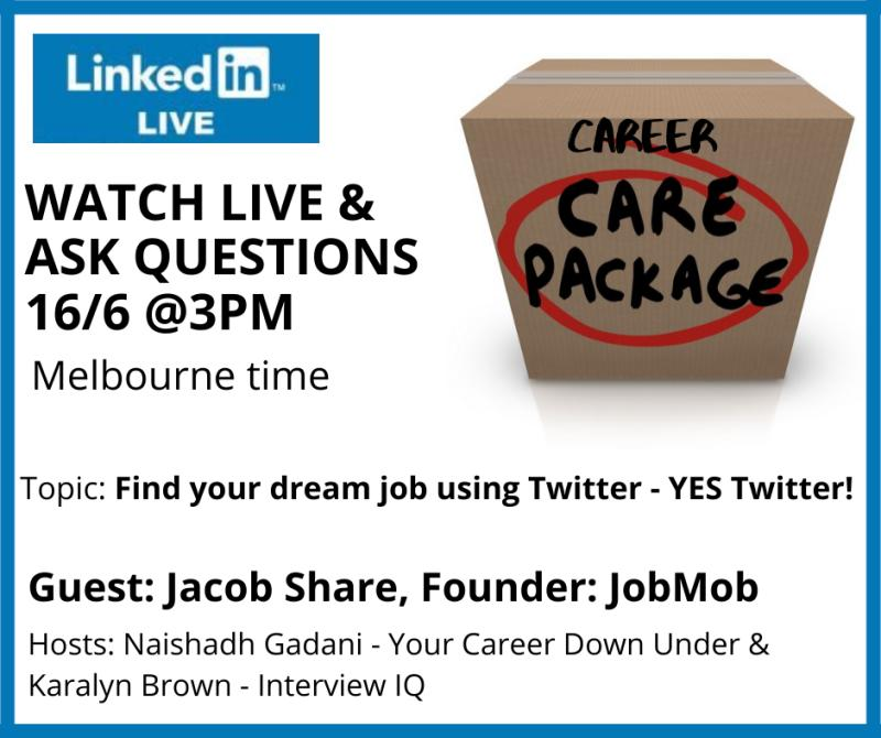 Career Care Package: Twitter Job Search with Jacob Share