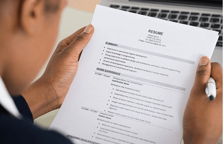JobTrain Workshop - Resume Review