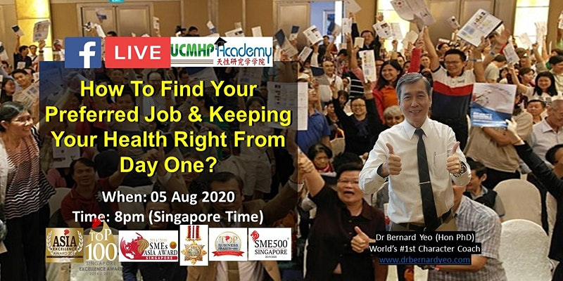 Live: How To Find Your Preferred Job & Keeping Your Health Right From Day 1