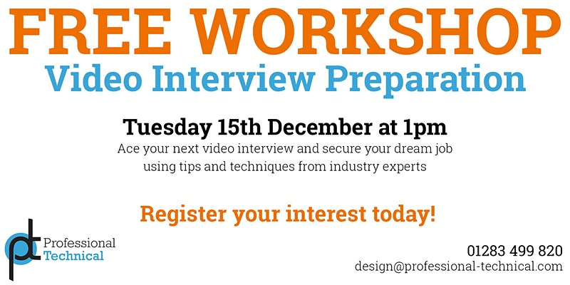Free Workshop: How to ace your next Video Interview