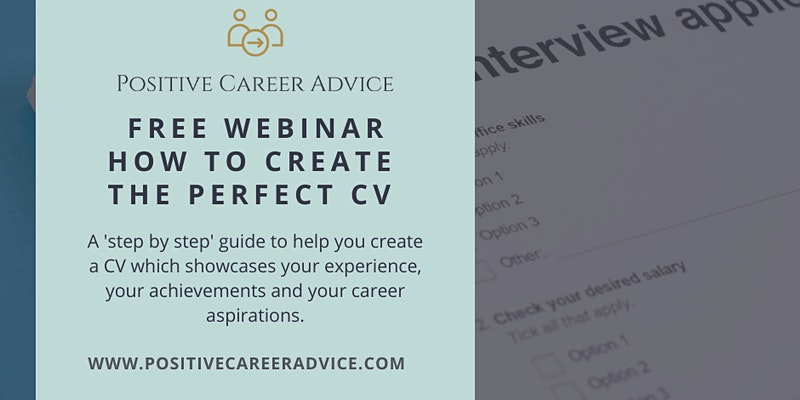 How to create the perfect CV - Positive Career Advice with Tate Recruitment