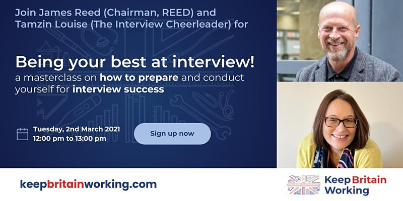Being your best at interview! with James Reed and The Interview Cheerleader