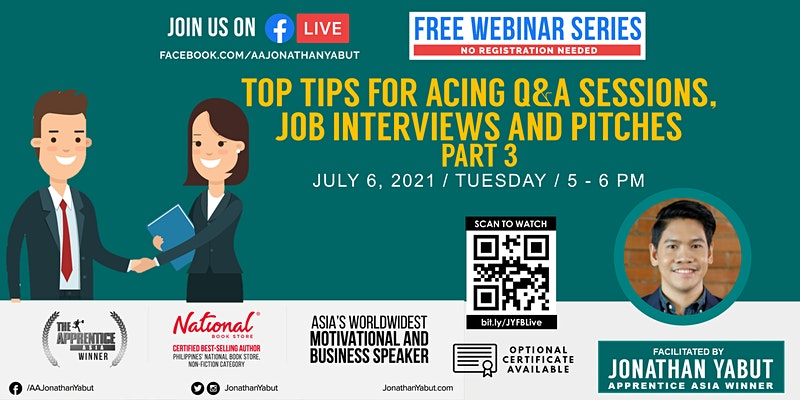 Top Tips for Acing Q&A Sessions, Job Interviews, and Pitches, Part 3