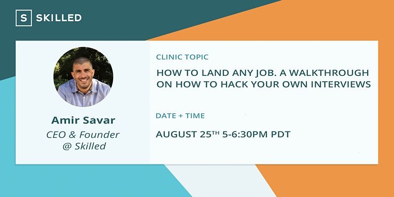 How to Land Any Job: A walkthrough on how to hack your own interviews