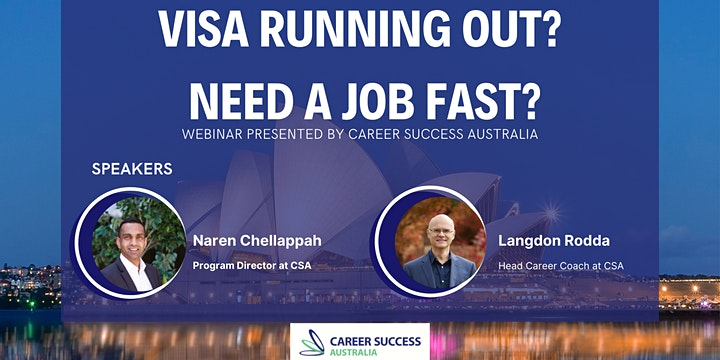 Visa running out? Need a job fast? Attend this ZOOM webinar!