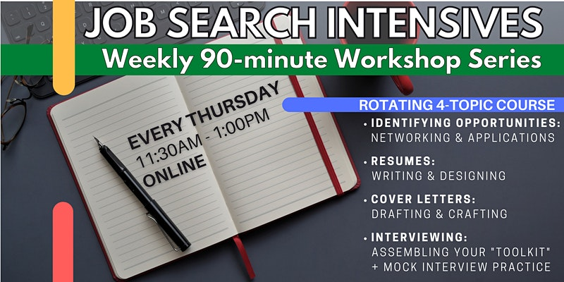 Job Search Intensives: Applications, Resumes, Cover Letters, Interviewing