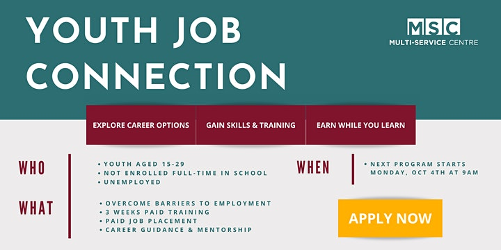 OCTOBER Youth Job Connection Program