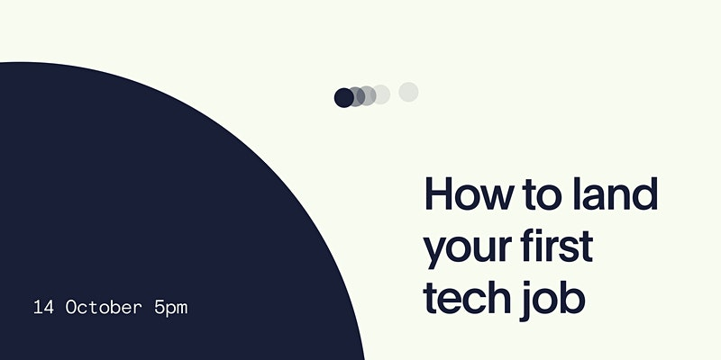 How to land your first tech job